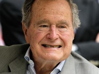 George H.W. Bush fractures neck bone
