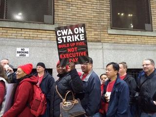 May 2016: Verizon workers go on strike