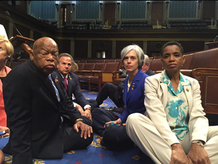 Dems stage sit-in on House floor due to gun vote