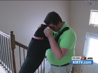 Family reunites with missing dog after 50 days