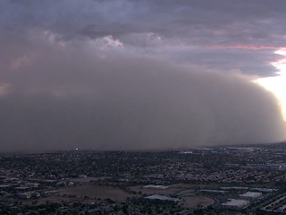 WATCH: Dust storm brings visibility to near zero