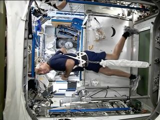 Living in space causes muscle atrophy