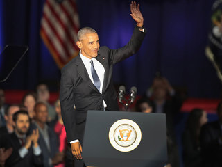 Warnings, thanks in Obama farewell