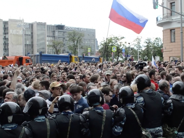 Young come out in force to protest across Russian Federation