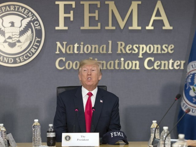 Trump Pledges $1m To Flood Victims