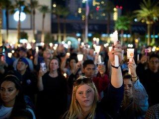 Las Vegas shooting survivors attend concert