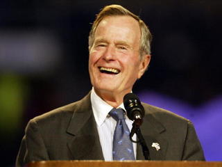 President George H.W. Bush doing much better