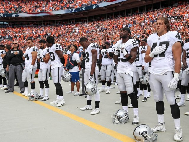 National Football League mulls changing anthem policy for next year