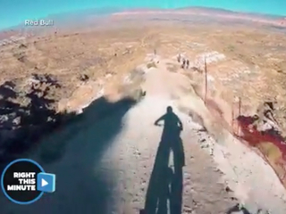 Watch: Red Bull athlete bikes of mountain