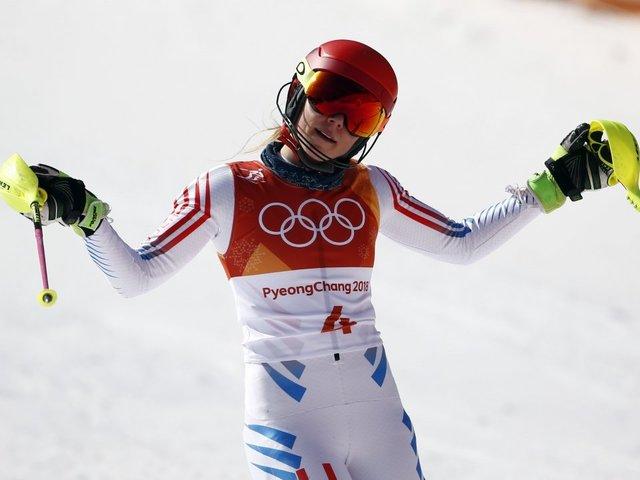 Mikaela Shiffrin Dominates Second Giant Slalom Run, Takes Home Gold
